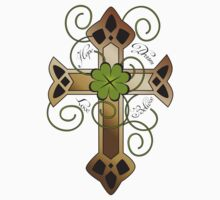 "Tattoo design with Irish cross ""hope, dream, love, believe"" by schtroumpf2510"