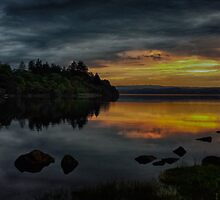 Sunset over Loch Awe, Argyll by Islandsimages