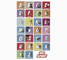 Justice League of Alphabet One Piece - Short Sleeve