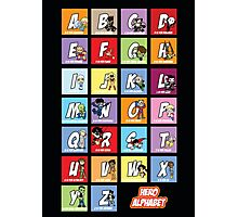 Justice League of Alphabet Photographic Print
