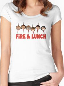 Fire and Lunch Women's Fitted Scoop T-Shirt