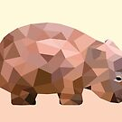 Mr Wombat print by drunkonwater