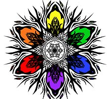 Rainbow Tribal Star by MichelleElaine Smith