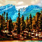 Hallett Peak Rocky Mountain National Park by Catherine Fenner