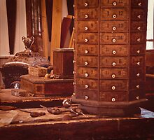 Old Time Woodworking Tools and Bench Vintage by Lee Craig