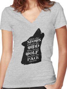 Stark Wisdom Women's Fitted V-Neck T-Shirt