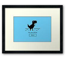 Offline Dinosaur Framed Print