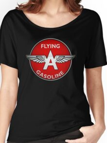 Flying A Gasoline crystal version Women's Relaxed Fit T-Shirt