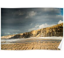 Nash Point Beach south Wales Poster