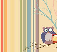 Retro vintage owls by Speedy78
