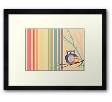 Retro vintage owls Framed Print