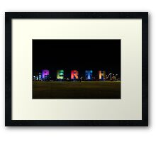 Perth Sign Framed Print