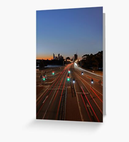 The Causeway At Sunset  Greeting Card