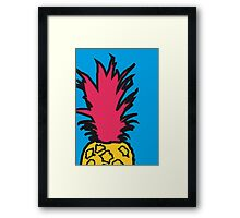 Pineapple pop blue print Framed Print