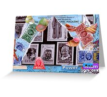 Time Travelers Stamp Card. Greeting Card
