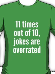 Overrated - Statistics - White T-Shirt