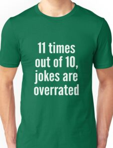 Overrated - Statistics - White Unisex T-Shirt