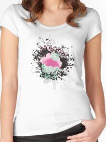 Molotov baker grunge cupcake paint bomb Women's Fitted Scoop T-Shirt