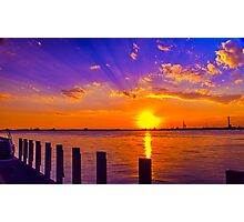 Industrial Sunset Photographic Print