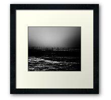 wire and boundaries thereof Framed Print