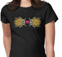 I love you ladybugs love bugs valentine Womens Fitted T-Shirt