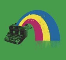 vintage typewriter kitschy retro rainbow by BigMRanch