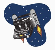 Outer space vintage typewriter jet pack rockets Kids Clothes