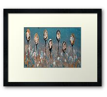 Abstract In Taupe, Chamoisee and Wheat Framed Print