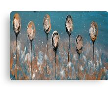 Abstract In Taupe, Chamoisee and Wheat Canvas Print
