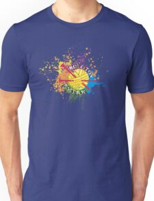 Molotov knitter knitting needles rainbow paint bomb Unisex T-Shirt