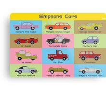 Simpsons Cars (Landscape) Metal Print