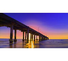 Cool Calm Pier Photographic Print