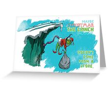 The Grinch Ponders Christmas Greeting Card