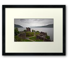 Urquhart in the Rain Framed Print