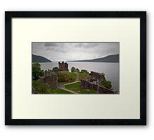 Urquhart in the Rain Framed Print