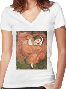 Nestled Women's Fitted V-Neck T-Shirt