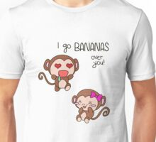 Valentines Day - I Go Bananas Over You [Transparent Stickers and Apparel] Unisex T-Shirt