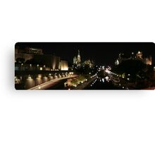 Rideau Canal Reflections with the Ottawa Skyline Part 2 Canvas Print