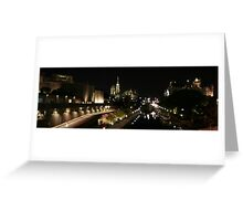 Rideau Canal Reflections with the Ottawa Skyline Part 2 Greeting Card