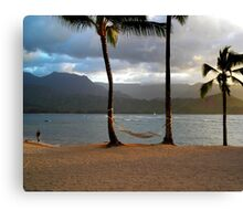 Hammock At Hanalei Bay Canvas Print