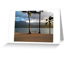 Hammock At Hanalei Bay Greeting Card