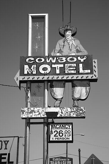 Route 66 - Cowboy Motel by Frank Romeo