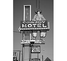 Route 66 - Cowboy Motel Photographic Print