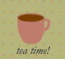 "Tea Time! ""Tea"" Shirt by Haley Marshall"