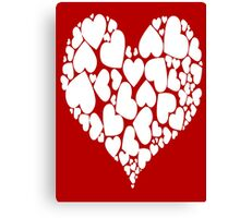 A Heart Full Of Love Red Valentine Hearts Within A Heart Canvas Print