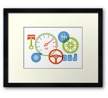 Car parts for kids who love cars Framed Print