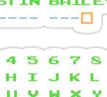 Justin Bailey Password Sticker