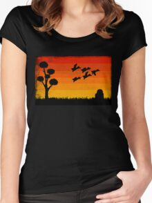 Duck Hunting Women's Fitted Scoop T-Shirt