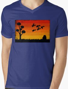 Duck Hunting Mens V-Neck T-Shirt