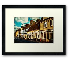 The High Street Framed Print